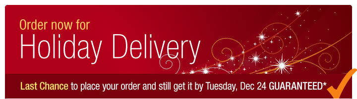 Order now for holiday delivery