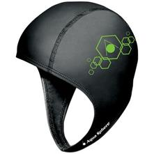 Aqua Sphere Aqua Speed Swim Cap with Chin Strap, Black