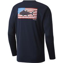 ffd98cb9300 Columbia Men's PFG Terminal Tackle Flag Fish Long Sleeve Shirt