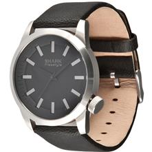 Shark by Freestyle Orion Watch, Silver/Black With Leather Strap