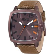 Shark by Freestyle the Jester Watch, Copper with Brown Leather Band