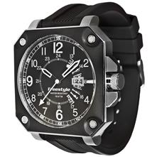Trooper Watch, Black with Silicone Strap