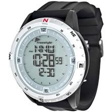 Freestyle Digital Touch Compass Watch Silver with Black Strap