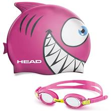 Head Meteor Character Kids Goggles and Swim Cap Set