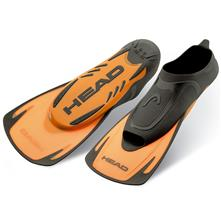 Head Swim Fin Energy Training Fins, Black/Orange
