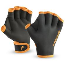 Head Swim Training Gloves, Black/Orange