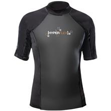 Hyperflex 1.5 mm 50/50 Short Sleeve Rash Guard Shirt, Black