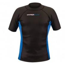 Hyperflex AMP 3 Pullover Coated Mesh Short Sleeve Wind Top1.5 mm, Black/Blue