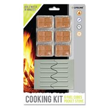 Lifeline Cooking Kit w/ Pocket Stove & Solid Fuel Cubes
