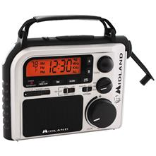 Midland ER102 Emergency Dynamo Crank Radio with AM/FM/Weather Alert