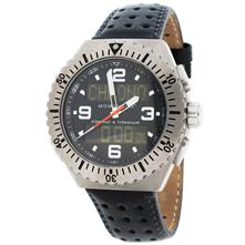 Momentum Format 4 Watch with Black Perforated Leather Band