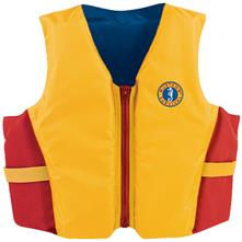 Mustang Survival Youth Life Vest, Gold/Red