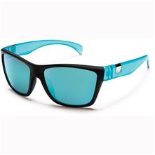 Suncloud Speedtrap Polarized Optics, Matte Black Teal Frame/Teal Mirror Lens