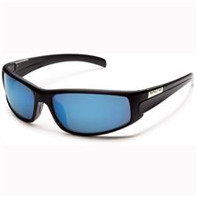 Suncloud Swagger Polarized Optics, Matte Black Frame/Blue Mirror Lens