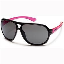 Suncloud Wingman Polarized Optics, Black-Neon Pink Frame/Gray Lens