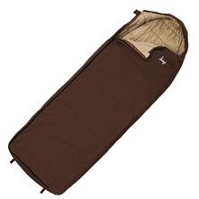 Slumberjack Log Cabin 40F Synthetic Semi-Rectangular Hooded Sleeping Bag - Regular Size
