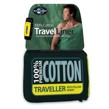 Sea To Summit Premium Cotton Travel Liner - Traveler with Pillow Slip - Assorted Colors