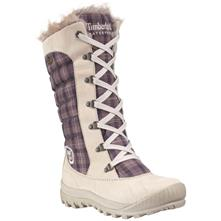 Timberland Mount Holly Leather and Fabric Lace Duck Waterproof Boot with Faux Fur for Women