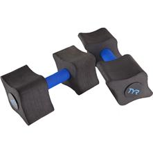 TYR Aquatic Resistance Dumbbells, Black/Blue