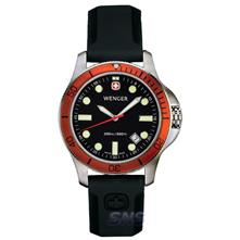Wenger 72343 Battalion III Diver Black Dial, Polished Case & Black Rubber Strap
