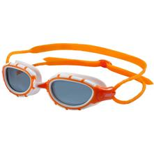 Zoggs Predator Polarized Goggles Small/Medium, Orange-White/Smoke Lens