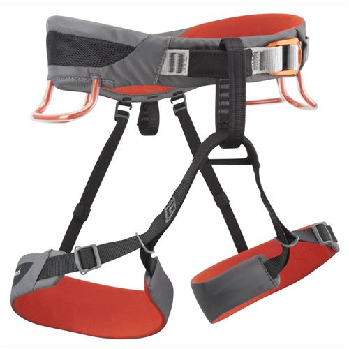 Black Diamond SA Climbing Harness Large Steel/Lava