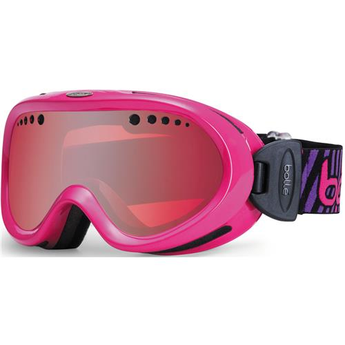 Bolle Nebula Ski Goggle for Kids Shiny Pink Stripes/Vermill
