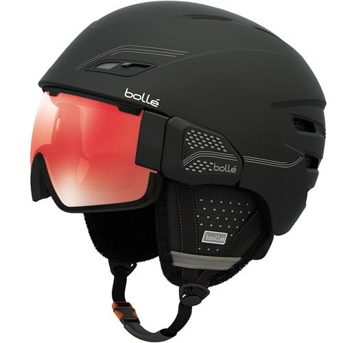 Bolle Osmoz Helmet 54-58CM Soft Black and Grey/Vermillon Gun
