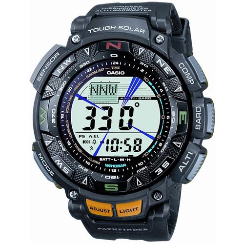 Casio Men's PAG240-1 Pathfinder Triple Sensor Multi-Function Resin Strap Watch