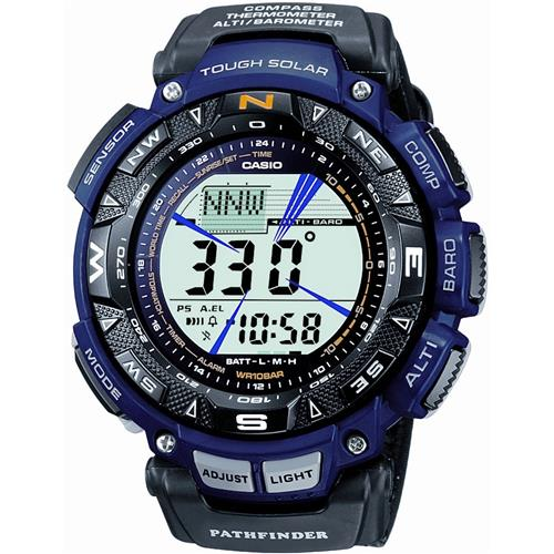 Casio Men's PAG240B-2 Pathfinder Triple Sensor Multi-Function Nylon StrapWatch