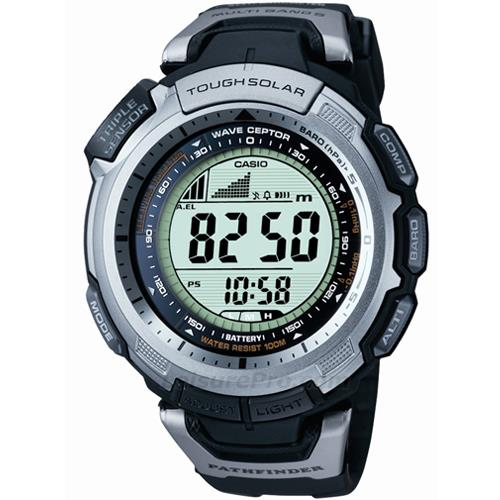 Casio Black Slim Atomic-Solar Pathfinder