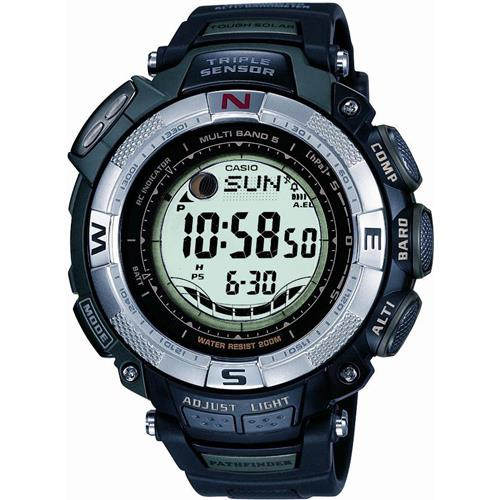 Casio 5 Atomic Solar Pathfinder Watch with Resin Band