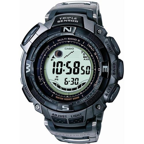 Casio 5 Atomic Solar Pathfinder Watch with Titanium Band