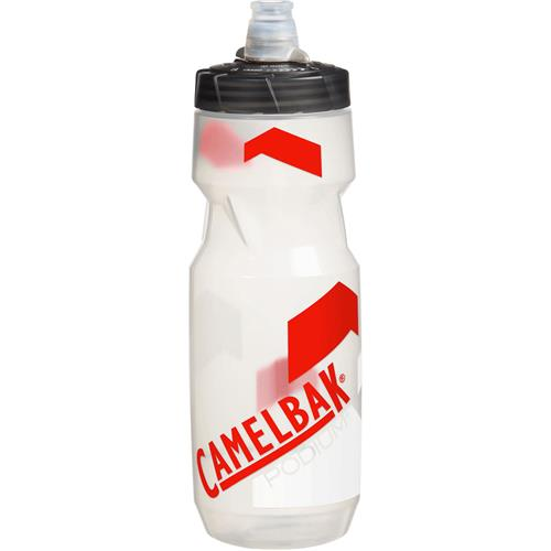 CamelBak Podium Bottle with Jet Valve 21 oz. Clear/Racing Red