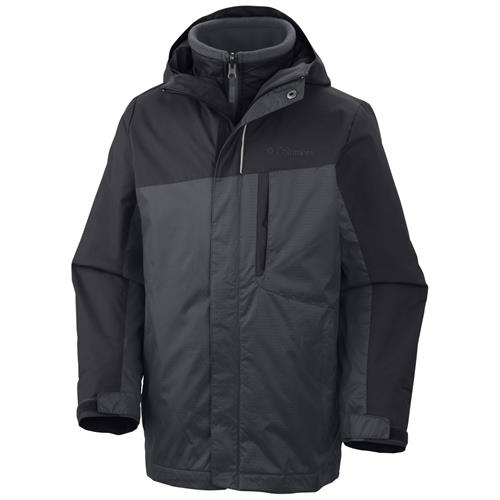 Columbia Eager Air Interchange 3-in-1 Jacket for Boys Large Black