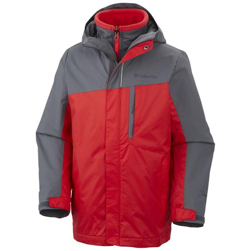 Columbia Eager Air Interchange 3-in-1 Jacket for Boys Small Graphite