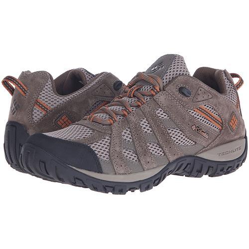 Columbia Redmond Waterproof Hiking Shoe - Men's Pebble/Dark Ginger, 11.5