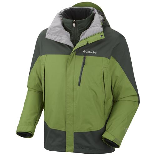 Columbia Lhotse Mountain II Interchange Jacket for Men X-Large Dark Backcountry