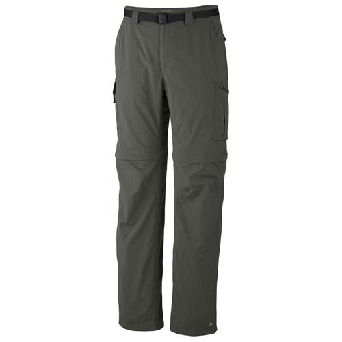 Columbia Silver Ridge Convertible Pant for Men Waist - 38/Inseam - 30 Gravel