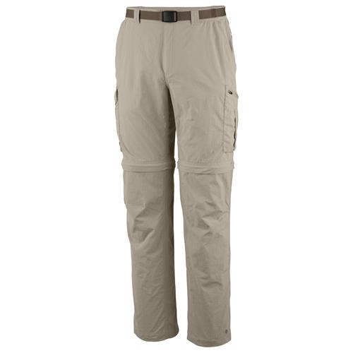 Columbia Silver Ridge Convertible Pant for Men Waist - 32/Inseam - 34 Fossil