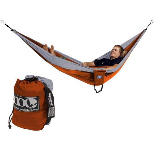 Eagle Nests SingleNest Hammock Orange/Grey
