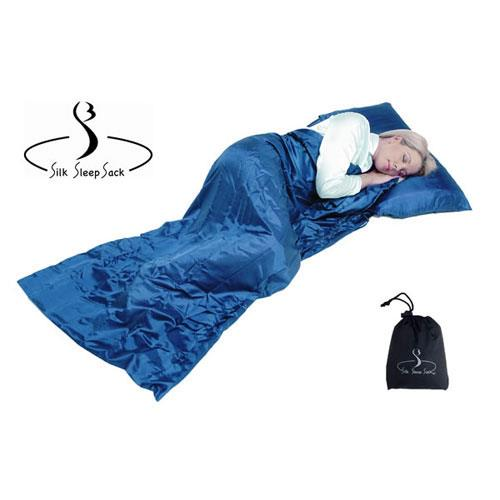 Grand Trunk Silk Sleeping Sack - Single - Blue - Long Size