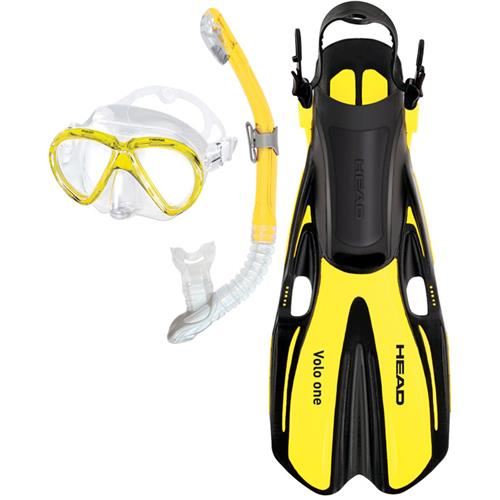 Head Marlin Purge Dry Snorkeling Set Small/Medium Yellow