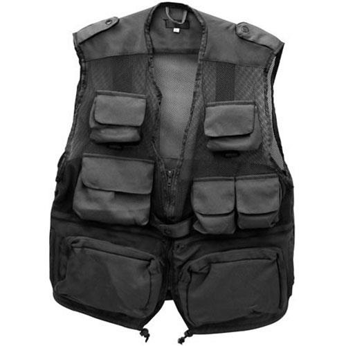 Humvee Combat Travel Vest Medium Black