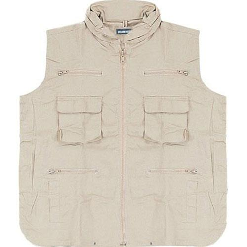 Humvee Ranger Travel Vest Large Khaki