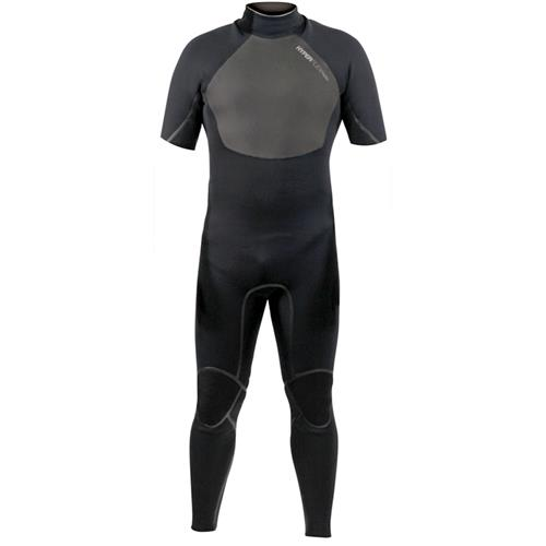 Hyperflex AMP 3 Series 2.5 mm Men's Short Sleeve Full Suit, Black