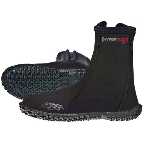 Hyperflex Access 5 mm Child's Zipper Boots, Black