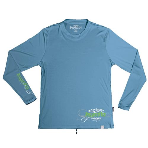 Hyperflex Juniors, Boy Ink Long Sleeve Water Shirt, Slate 14-16