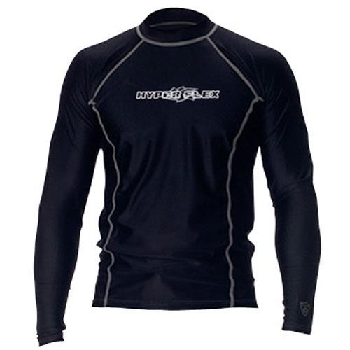 Hyperflex Loose Fit Men's Long Sleeve Rash Guard, Black