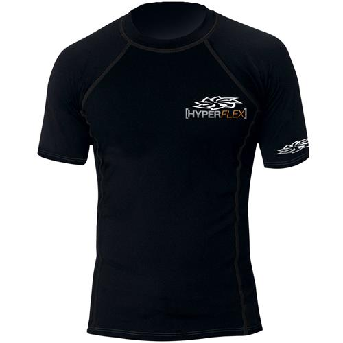 Hyperflex Polyolefin Short Sleeve Rash Guard, Black